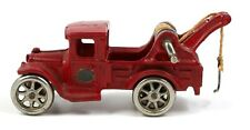 Vintage Arcade Cast Iron Tow Truck Wrecker 221R Red Toy Truck