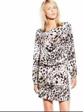 Vince Camuto Leopard Print Fresco Center Fold Dress Womens Size 4