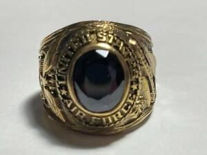 Vintage Ring UNITED STATES AIR FORCE BLACK Stone Vietnam War Era