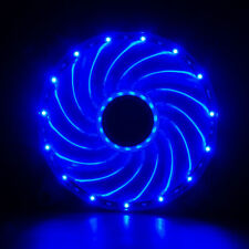 120mm LED Neon BLUE Computer PC Case Cooling Fan Sleeve Bearing By Vetroo