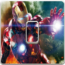 Marvel Avengers Iron Man Light Switch Vinyl Sticker Decal for Kids Bedroom #76