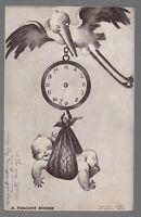 """[50941] 1907 POSTCARD NEWBORN GREETING """"A PRECIOUS BURDEN"""" (M.T. SHEAHAN)"""