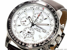 Seiko Analog Casual Watch Solar Chronograph Brown Mens SSC013P1