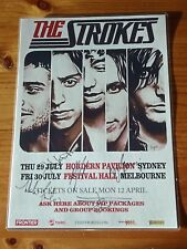 THE STROKES - SIGNED AUTOGRAPHED 2010 Australia Tour Poster - Laminated