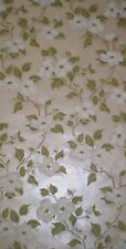 Satin Dogwood Tree Flowers & Branches on Metallic Light Bronze Wallpaper CTC210