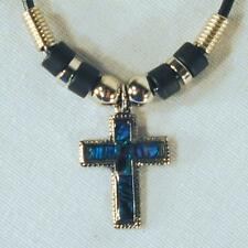 SHELL CROSS ROPE NECKLACE PAUA jewelry crosses JL147 bulk lot new fashion unisex