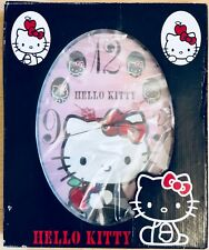 Sanrio Hello Kitty Large Oval Wall Clock - Collectors Sanrio branded item