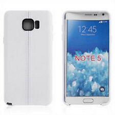 Custodia cover case Tpu gomma double line BIANCO per Samsung Galaxy Note 5
