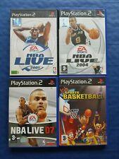 Sony PlayStation 2 PS2 Lot de 4 jeux basket complets