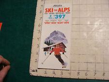Vintage High Grade SKI brochure: ski the alps ALITALIA 1971-72