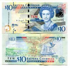 EAST CARIBBEAN 10 DOLLARS ND(2015) P-52b UNC