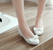 Cute Girls Bow Shoes Womens Clubwear Loafers Single-Shoes Casual Ladys Womens