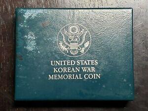 1991 D UNC Korean War Memorial Silver Dollar with Box/COA - US Coins