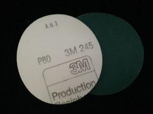 3M Hookit 245 Sanding Discs P80 125mm Box of  50