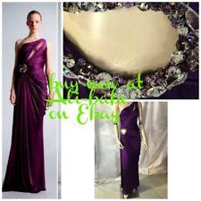 Zuhair Murad  purple jewel one shoulder cut out dress gown 6 NWT  $5100