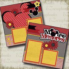 MOUSE MEMORIES - 2 Premade Scrapbook Pages - EZ Layout 2192