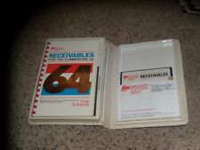 "Receivables for the Commodore 64 C64 on 5.25"" disk with book and case"