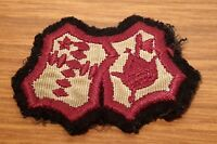 Vintage cloth badge, Crown & Axe, 2.5 inches across, good condition.