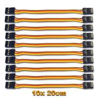 10 Servo Patch Kabel 20cm Patchkabel Servokabel JR 200mm Stecker Male Graupner