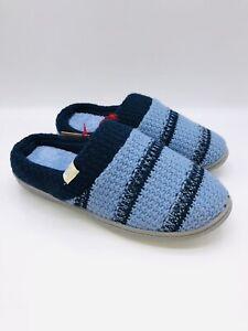 Dearfoams Women's Peacoat & Navy Stripe Knit Clog Slipper L (US 9-10)   #B-40