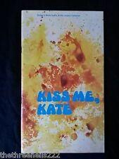1970 - KISS ME KATE - LONDON COLISEUM - JUDITH BRUCE & MICHAEL KNIGHT