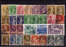Lot Schweiz o - aus Nr. 95 - 141 ( 1907 - 1915 )   ( 12547-o1 )