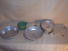 Boy Scouts Of America Aluminum Mess Kit Camping Nesting Dinner Dishes cup L@@K