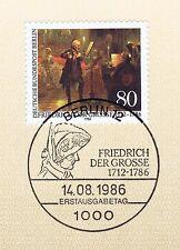 Berlin 1986: Friedrich der Große Nr. 764 mit dem Ersttags-Sonderstempel! 1A! 157
