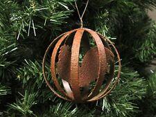 Farm Rooster, Metal Ball Christmas Ornament