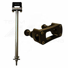 "Honda TRX 450R  Steering Stem  +1""  Chromoly Chromed  7/8 Bar Clamp  Black  703"