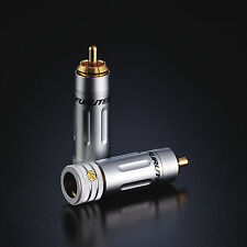 Furutech FP-160(G) Cinchstecker RCA Connector Gold Cinch 2 Paar (4 Stück)