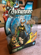 "LOKI The Avengers Movie Series COSMIC SPEAR 3.75"" Figure Marvel Hasbro 2011 NEW"