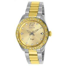 Invicta Angel 27447 Women's Round Analog Clear Crystal Gold Tone Watch