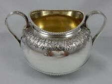Attraente, vittoriano argento SUGAR BOWL, 1881, 334gm