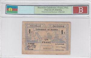 BILLET DE 1 FRANC NOUVELLE CALEDONIE 1943