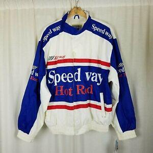 Arctic Pole Prince Bernado Raceway Speedway Hot Rod Windbreaker Jacket Mens XXL