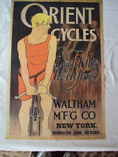 Orient Cycles, Lead the Leaders, Poster, Bicycle, Vintage Ad Repro Art French No