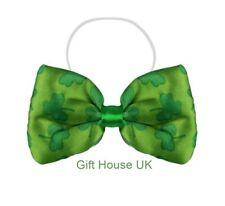 St Patrick's Day Green Clover Leaf Bow Tie Irish Ireland Fancy Christmas Party