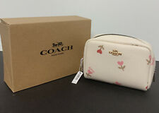 Coach C2903 Mini Boxy Cosmetic Case With Heart Floral Print