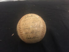 LATE 1950'S EARLY 60'S NEW YORK YANKEES STAMPED SIGNED BASEBALL MANTLE MARIS