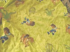 Go Diego do flat and fitted toddler bed dinosaur rare CUTTER fabric material