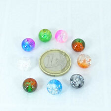 32 Abalorios Bolas Cristales Variados 10mm M722 Entrepiezas Crystal Beads