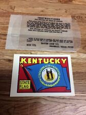 Original Vintage Kentucky State Flag Travel Decal Sticker