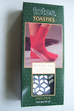 Totes Toasties Slipper Sox Men Unisex One Size  Warm, Washable and Traction Sole