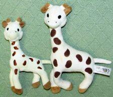 "Vulli SOPHIE the GIRAFFE SET Plush Stuffed RATTLES 9"" & 7"" Baby Lovie Crib Toy"