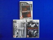 *wii RESIDENT EVIL x3 (NI) Archives + 4 Wii Edition + Umbrella Chronicles PAL UK
