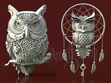2 3D STL Models Owls Panel CNC Router Carving Machine Artcam aspire Cut3D