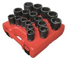 SUNEX #4683: 3/4 Drive 17pc SAE Impact Socket Set.
