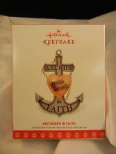 Hallmark Keepsake Ornament 2017 Anchored in Faith NIB