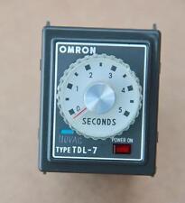 OMRON TDL7 Timer Relè 110VAC #S853
